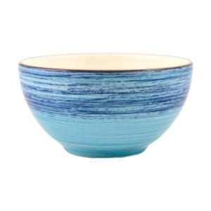 BOWL 15 CM. SPIRAL AZUL EARTHENWARE