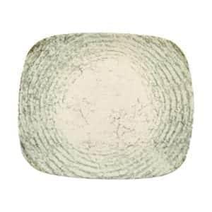 FUENTE 30 X 25 CM. RECTANGULAR DECORADO GREEN